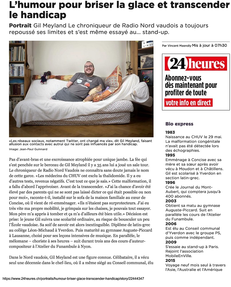 24 Heures Portait Gil Meyland Concisois 9.03.2018 Page 1