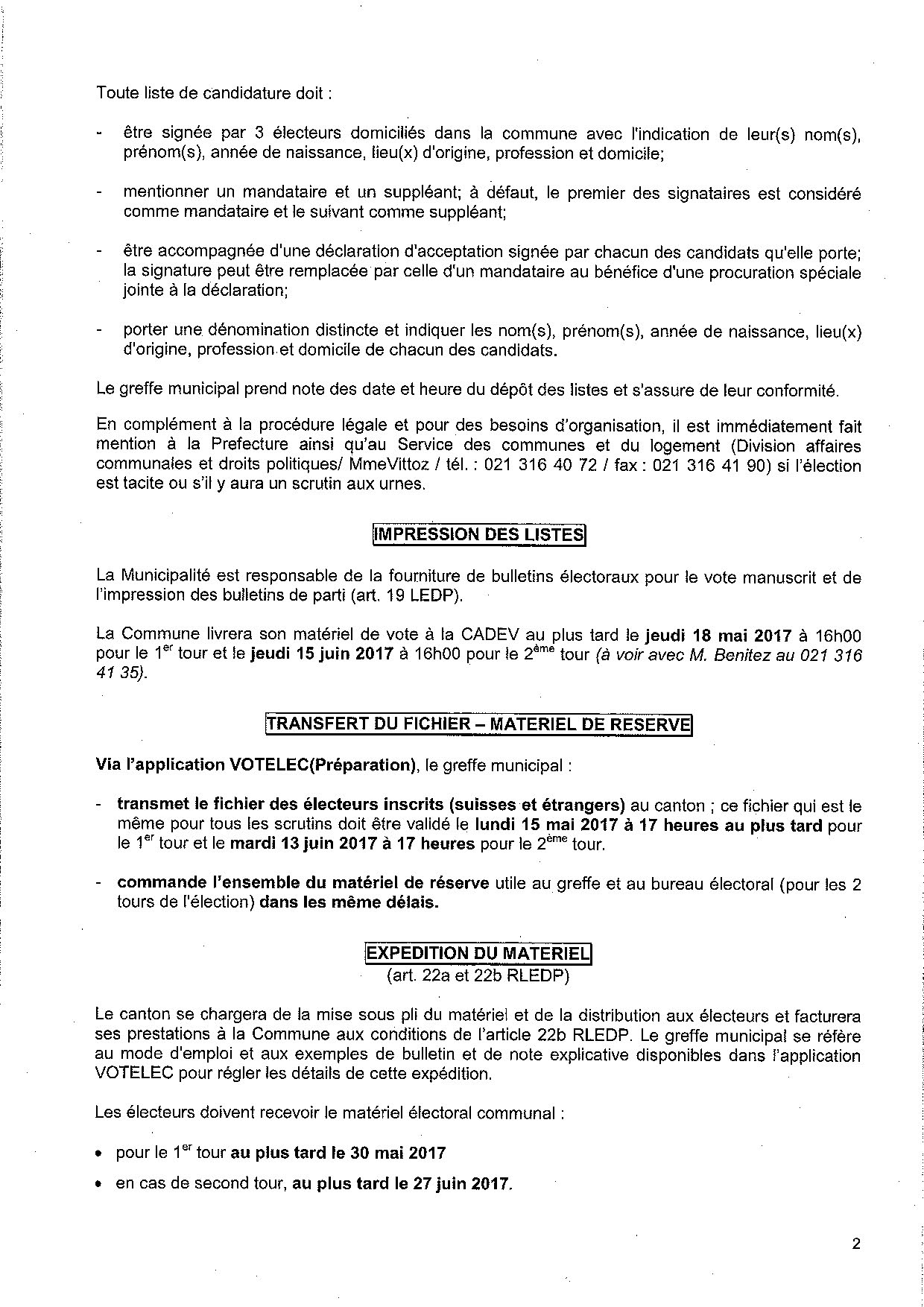 Convocation election du syndic 11 juin 2017 10.04.2017 Page 2