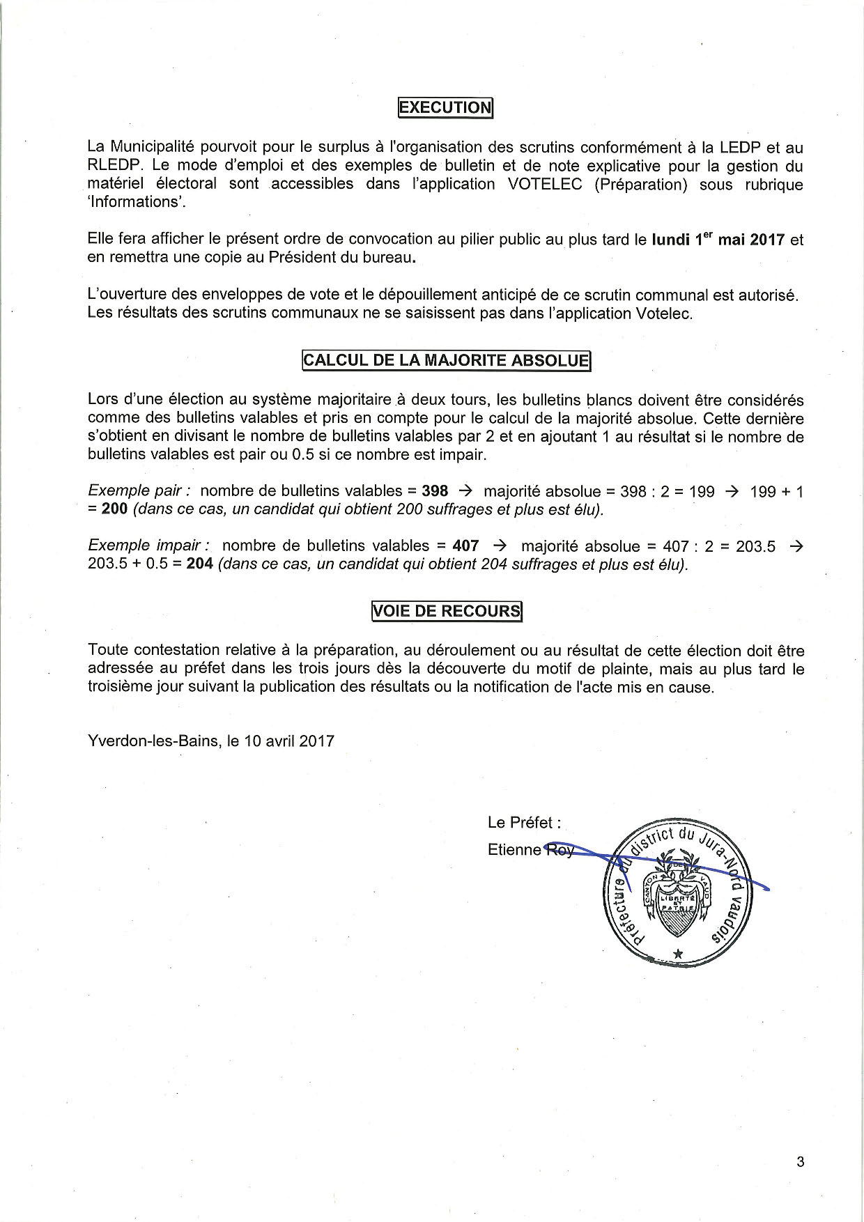 Convocation election du syndic 11 juin 2017 10.04.2017 Page 3