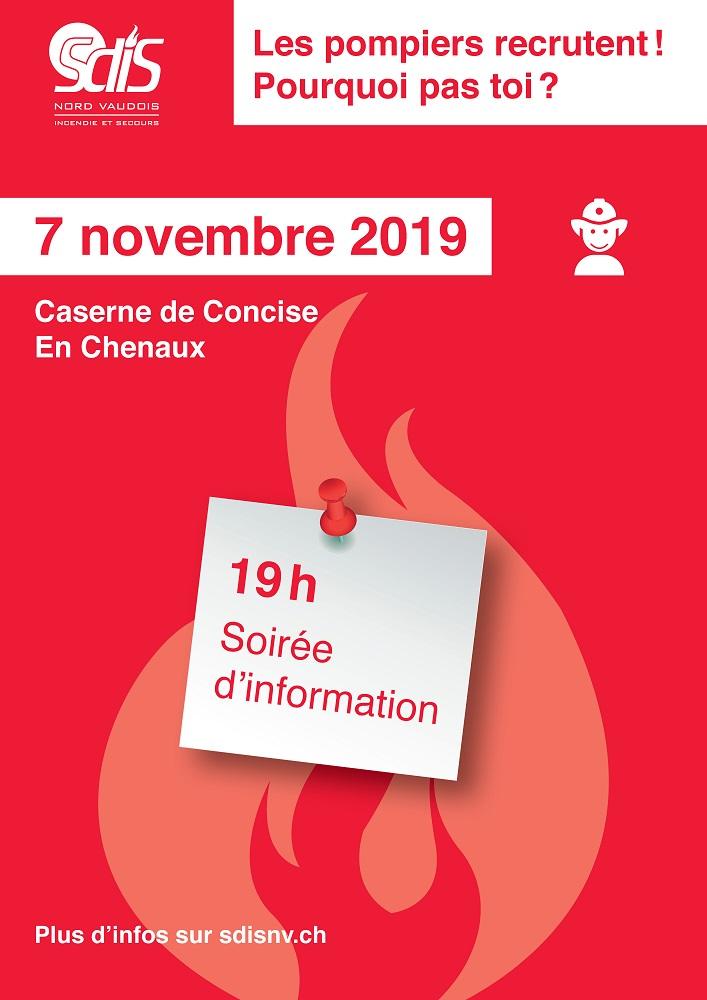 r 4246 SDIS Avis Soirée dinformation et recrutement du 7.11.2019