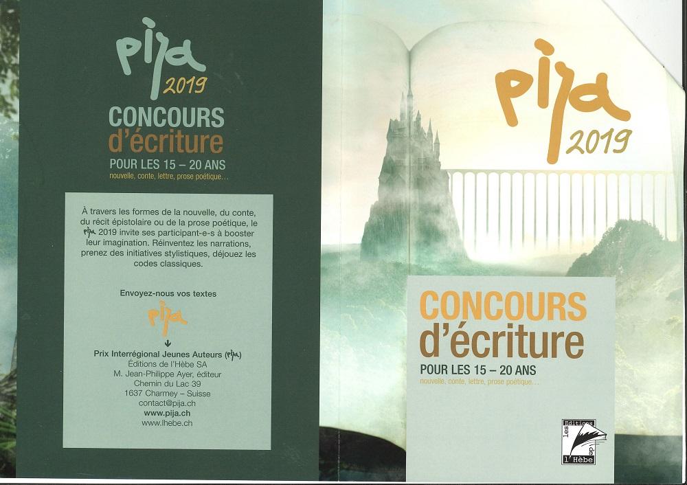 r 3126 Prix interrégional Jeunes Auteurs. PIJA. Information. Concours 2019 1